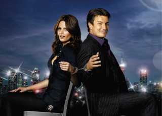Картинка кино+фильмы castle richard nathan fillion kate beckett stana katic