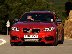 Картинка автомобили bmw f22 uk-spec coupе красный 2014 m235i