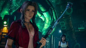 обоя видео игры, final fantasy vii,  remake, aerith, gainsborough, final, fantasy, vii, remake, tifa, lockhart
