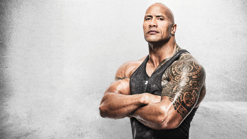 обоя мужчины, dwayne johnson , the rock, майка, тату, актер