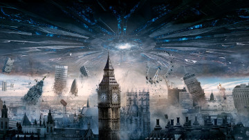 обоя кино фильмы, independence day,  resurgence, independence, day, london, resurgence