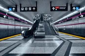 обоя don mills subway station, техника, метро, эскалатор, метрополитен
