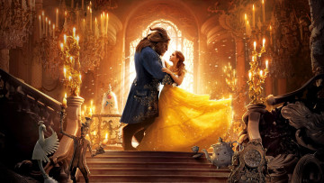 обоя кино фильмы, beauty and the beast, dan, stevens, goat, disney, kyle, kingson, beauty, and, the, beast, man, dress, woman, bela, lion, movie, emma, watson