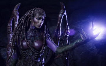 Картинка разное cosplay+ косплей starcraft ii sarah kerrigan monster cosplay woman 2 alien heroes of the storm heart swarm game
