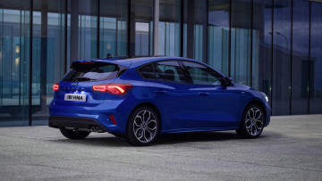 обоя ford focus hatchback st-line 2019, автомобили, ford, st-line, hatchback, blue, 2019, focus