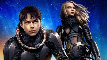 обоя кино фильмы, valerian and the city of a thousand planets, valerian, and, laureline, in, the, city, of, a, thousand, planets