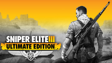 обоя sniper elite 3 ultimate edition, видео игры, sniper elite iii,  afrika, постер, games, sniper, elite, rebellion, developments, тактический, шутер