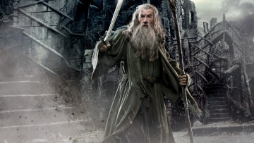 обоя кино фильмы, the hobbit,  the desolation of smaug, старик