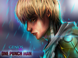 Картинка аниме one+punch+man genos onepunch-man парень киборг art anime