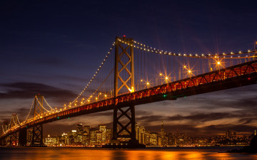 обоя san francisco-oakland bay bridge, города, сан-франциско , сша, san, francisco-oakland, bay, bridge