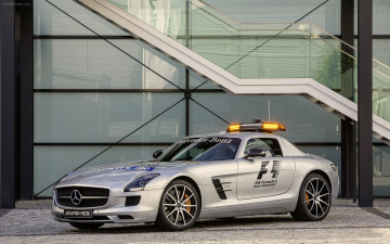 Картинка автомобили mercedes benz f1 safety official sls mercedes-benz gt amg
