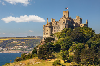 обоя st michael`s mount, города, замки англии, простор