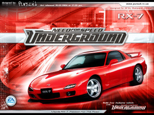 обоя мазда, rx7, видео, игры, need, for, speed, underground
