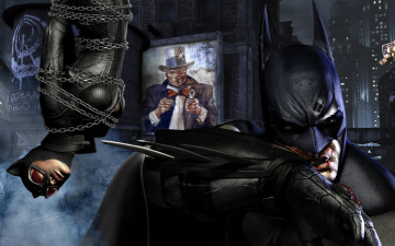 обоя batman, arkham, city, видео, игры