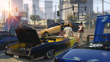 обоя grand theft auto, видео игры, grand theft auto v, gta, lowriders, battle