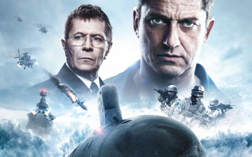 обоя hunter killer , 2018, кино фильмы, hunter killer, промо, постер, боевик, триллер, главные, герои, джерард, батлер, гари, олдман, командир, джо, гласс, адмирал, чарльз, доннеган