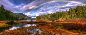 Картинка goldstream park outside of victoria природа радуга rainbow