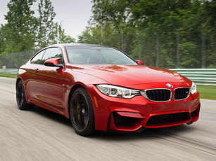 Картинка автомобили bmw 2015 m4 coupе us-spec f82 красный