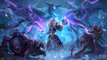 обоя видео игры, hearthstone,  knights of the frozen throne, action, ролевая, knights, of, the, frozen, throne