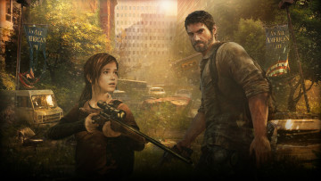 Картинка the last of us видео игры ellie joel винтовка