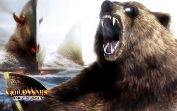 обоя видео игры, guild wars,  eye of the north, eye, of, the, north, город, пасть, guild, wars, рев, медведь