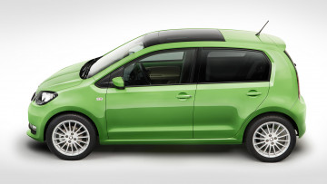 Картинка skoda+citigo+5-door+2017 автомобили skoda citigo 5-door салатовая 2017