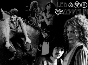 обоя led, zeppelin, музыка