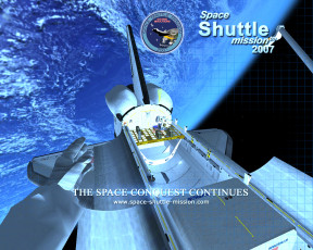 обоя space, shuttle, mission, 2007, видео, игры