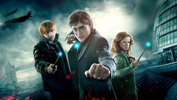 обоя кино фильмы, harry potter and the deathly hallows,  part i, рон, уизли, гарри, поттер, гермиона, грейнджер, лондон