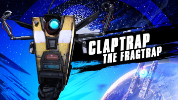 обоя borderlands,  the pre-sequel, видео игры, claptrap