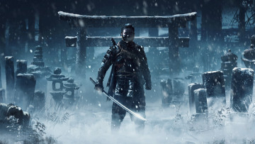 обоя ghost of tsushima, видео игры, ghost, of, tsushima, action, адвенчура