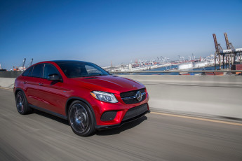 Картинка автомобили mercedes-benz 2016г coupе 4matic us-spec красный amg gle 450
