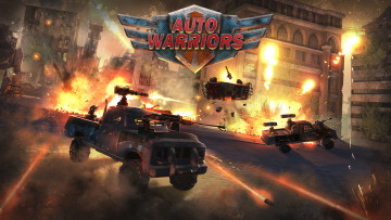обоя auto warriors, видео игры, auto, warriors, стратегия, аркада
