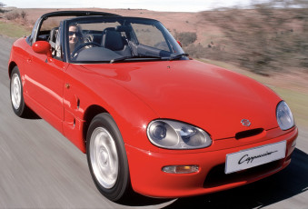 обоя suzuki cappuccino uk-spec  1993, автомобили, suzuki, cappuccino, uk-spec, 1993, red