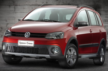 обоя volkswagen space cross 2011, автомобили, volkswagen, cross, space, 2011