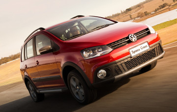 обоя volkswagen space cross 2011, автомобили, volkswagen, space, cross, 2011