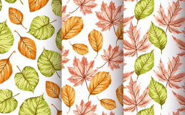 обоя векторная графика, природа , nature, seamless, pattern, autumn, листочки, текстура, фон
