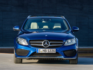 Картинка автомобили mercedes-benz c 250 amg line estate s205 2014г синий
