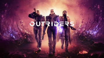 обоя outriders , 2019, видео игры, ---другое, шутер, outriders, e3, постер, people, can, fly, square, enix