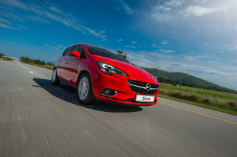 Картинка автомобили opel e za-spec 5-door 2015г красный corsa