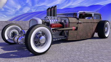 Картинка автомобили 3д rod rat ford 1929
