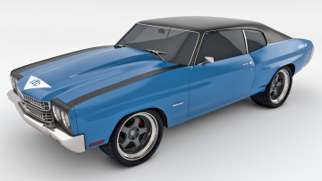 Картинка автомобили 3д chevelle 1970 yenco