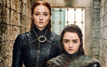 обоя кино фильмы, game of thrones , сериал, sansa, stark, arya