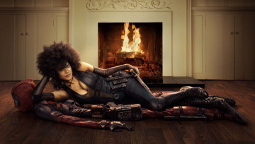 обоя кино фильмы, deadpool 2, deadpool, 2, domino, zazie, beetz