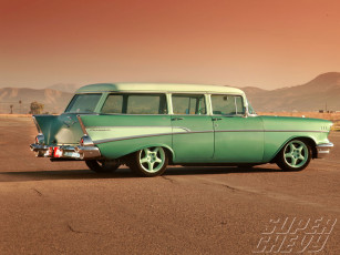 Картинка 1957 chevy 210 wagon автомобили chevrolet