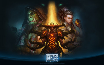 обоя blizzcon, 2011, видео, игры, blizzard, entertainment, wow, starcraft, diablo