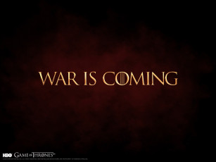 Картинка war is coming кино фильмы game of thrones сериал надпись