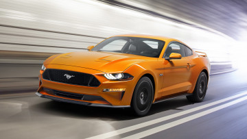 обоя ford mustang v8-gt with performance package 2018, автомобили, ford, mustang, v8-gt, with, performance, package, 2018