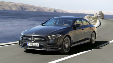 обоя mercedes-benz amg cls-53 4matic  2019, автомобили, mercedes-benz, 2019, чёрный, amg, cls-53, 4matic