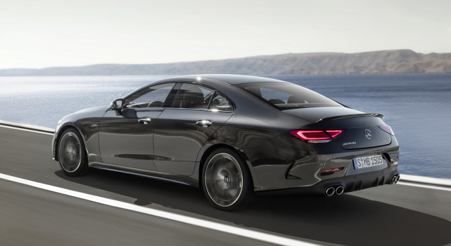 Обои картинки фото mercedes-benz amg cls-53 4matic  2019, автомобили, mercedes-benz, чёрный, amg, cls-53, 4matic, 2019